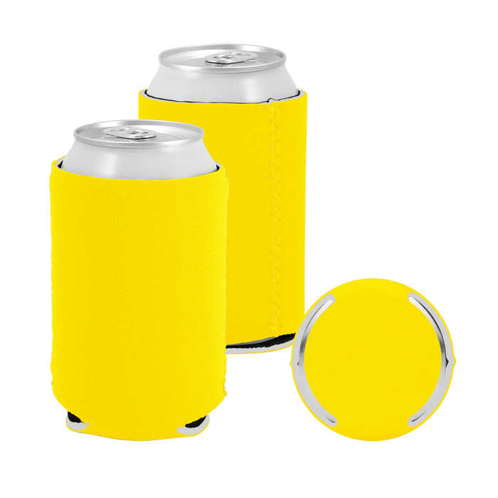 Yellow Premium Collapsible Neoprene Koozie