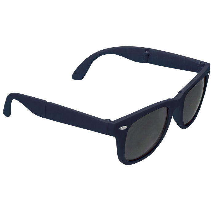 Navy Blue Reno Folding Sunglasses
