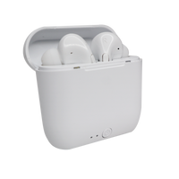 White Wireless Earbuds with Charging Case Thumb