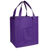 Purple Insulated Cooler Tote with Pocket Thumb