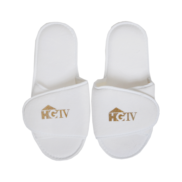 Adjustable Velour Slippers