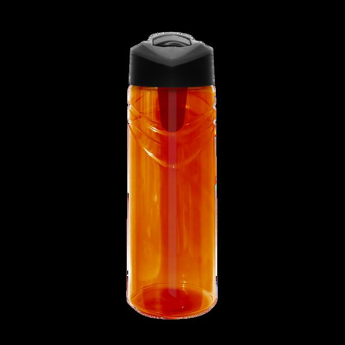 Orange Sport Water Bottle with Flip Up Straw