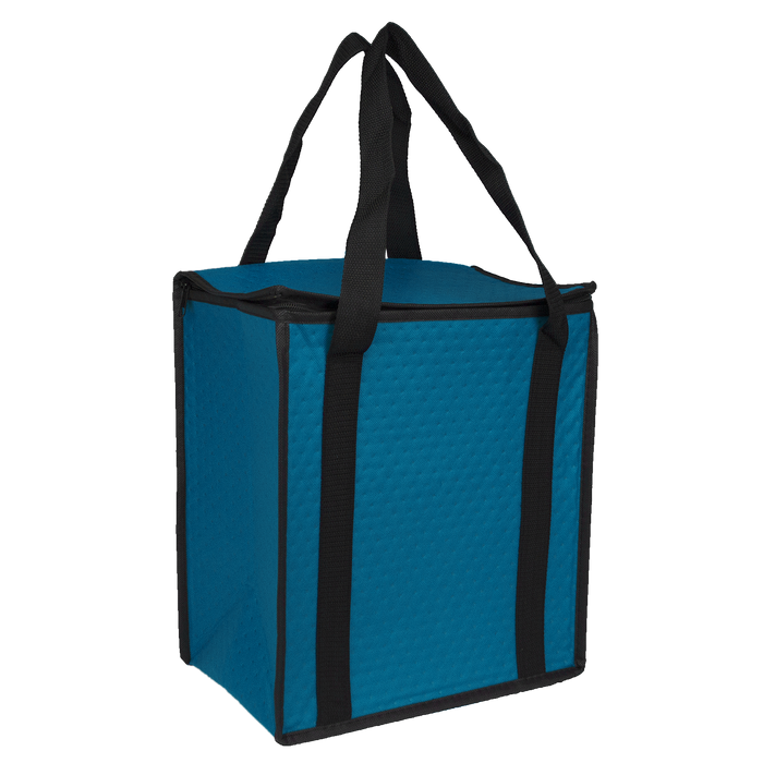 Sea Blue Square Top Insulated Tote