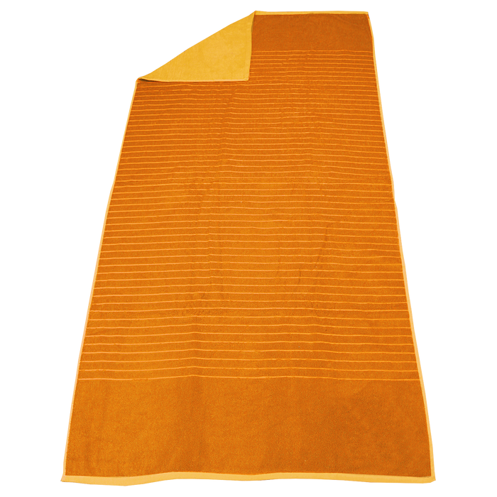 Orange Bayside Reversible Stripe Beach Towel
