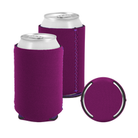 Violet Premium Collapsible Neoprene Koozie Thumb