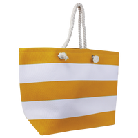 Orange Marina Striped Beach Tote Thumb