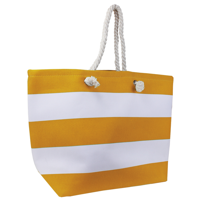 Orange Marina Striped Beach Tote