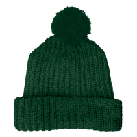 Forest Green Knit Pom Beanie Thumb