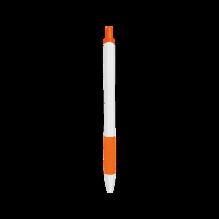Orange with Blue Ink Soft Grip Pen