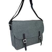 Heather Grey The Traveler Laptop Messenger Thumb