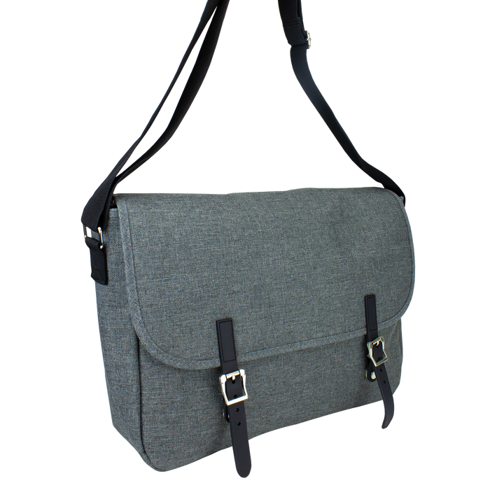 Heather Grey The Traveler Laptop Messenger