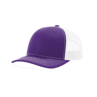 Purple/White Richardson Trucker Snapback Hat Thumb