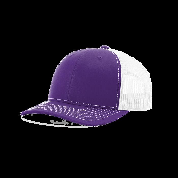 Purple/White Richardson Trucker Snapback Hat