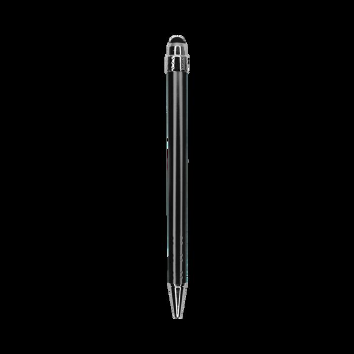 Black with Blue Ink Chrome Stylus Pen