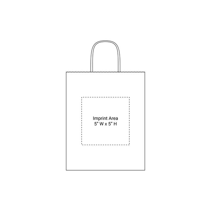 Extra Small Kraft Paper Shopper Bag