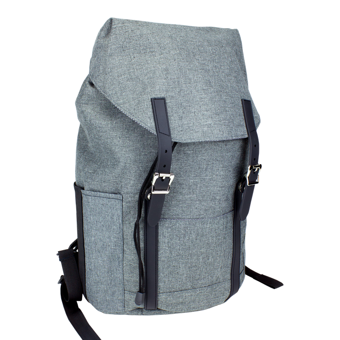 Heather Grey The Traveler Fliptop Laptop Backpack