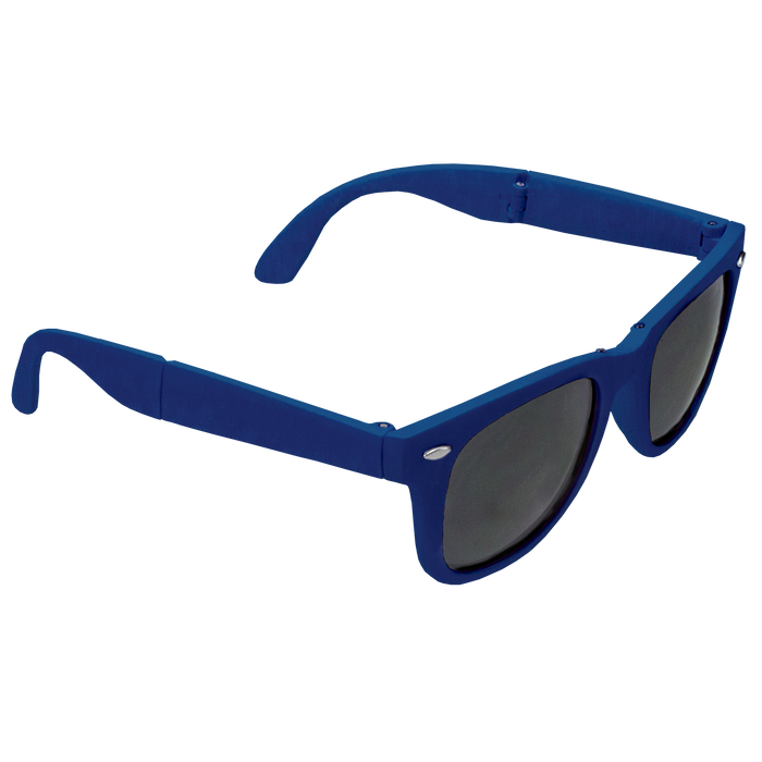 Royal Blue Reno Folding Sunglasses