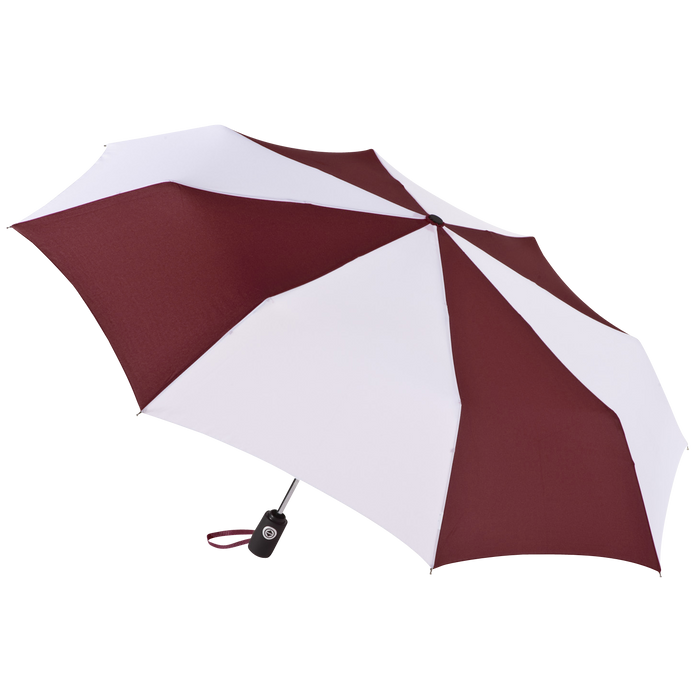 Burgundy/White Aquarius totes® Umbrella