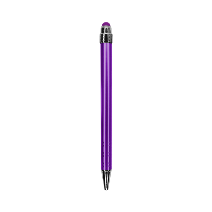 Purple with Black Ink Chrome Stylus Pen