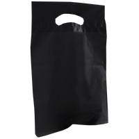 Black Small Recyclable Die Cut Plastic Bag Thumb