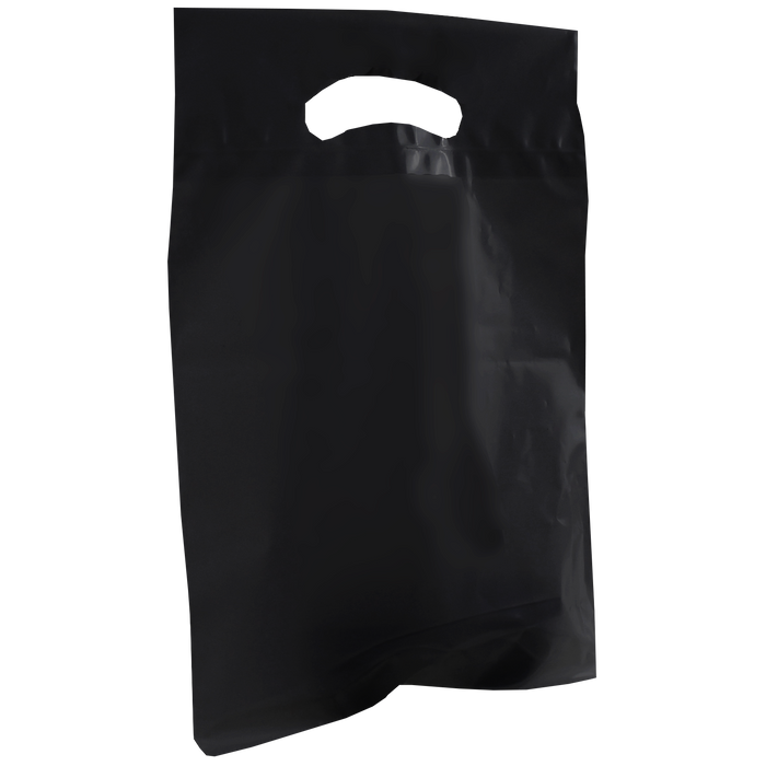Black Small Die Cut Plastic Bag