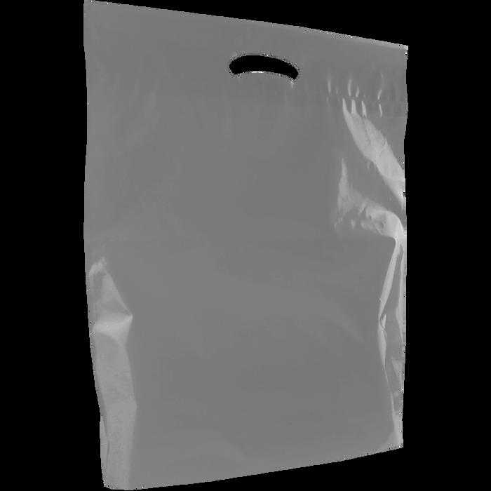 Gray Large Eco-Friendly Die Cut Plastic Bag