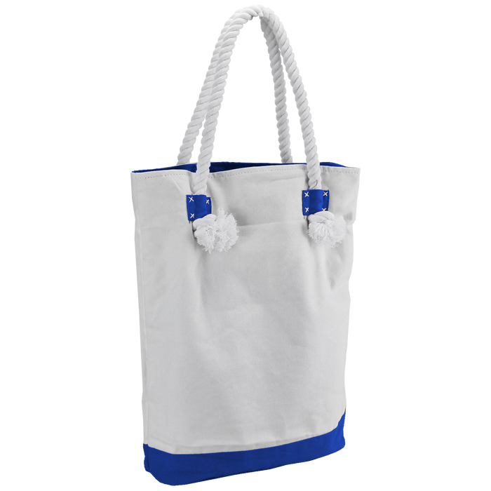 Royal Blue Catamaran Canvas Tote