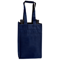 Navy Blue 4 Bottle Wine Tote Thumb