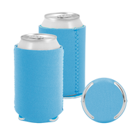 Sky Blue Premium Collapsible Neoprene Koozie Thumb