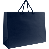 Navy Blue Medium Glossy Shopper Bag Thumb