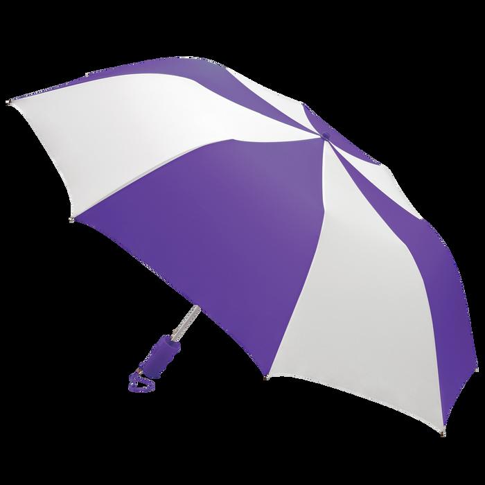 Purple/White Classic Umbrella