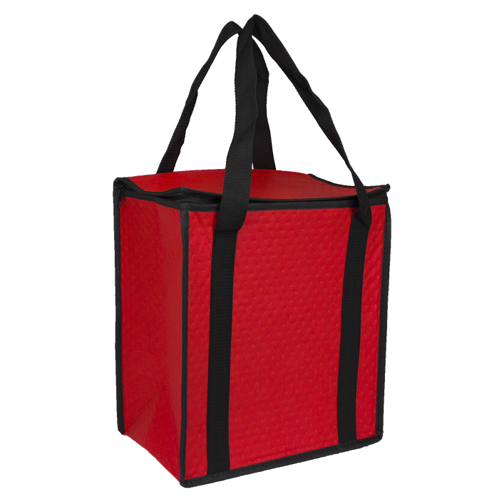 Red Square Top Insulated Tote