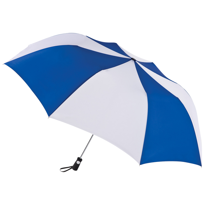 Royal/White Stratus totes® Umbrella