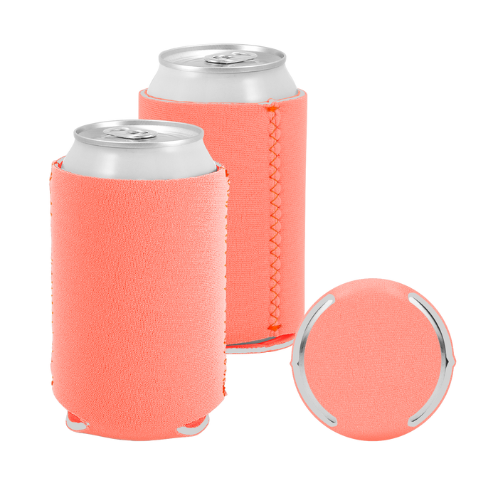 Light Coral Premium Collapsible Neoprene Koozie