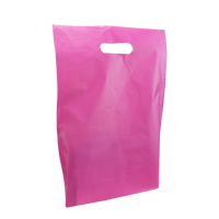 Pink Medium Frosted Die Cut Bag Thumb
