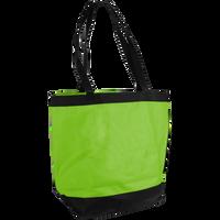 Lime Green Clipper Beach Tote Bag Thumb
