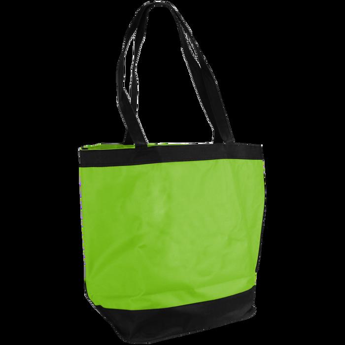 Lime Green Clipper Beach Tote Bag