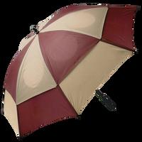 Burgundy/Tan Gemini Umbrella Thumb