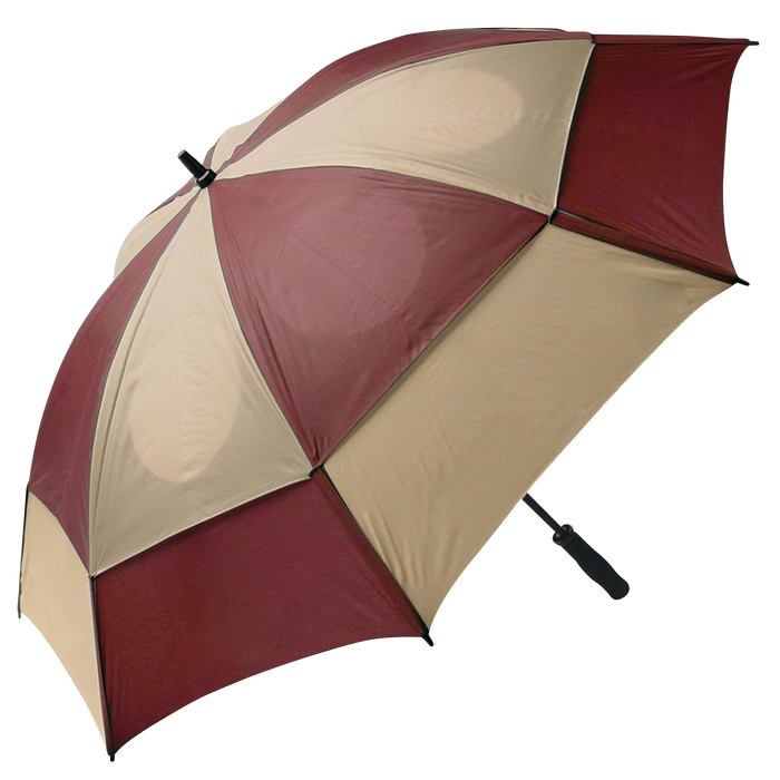 Burgundy/Tan Gemini Umbrella