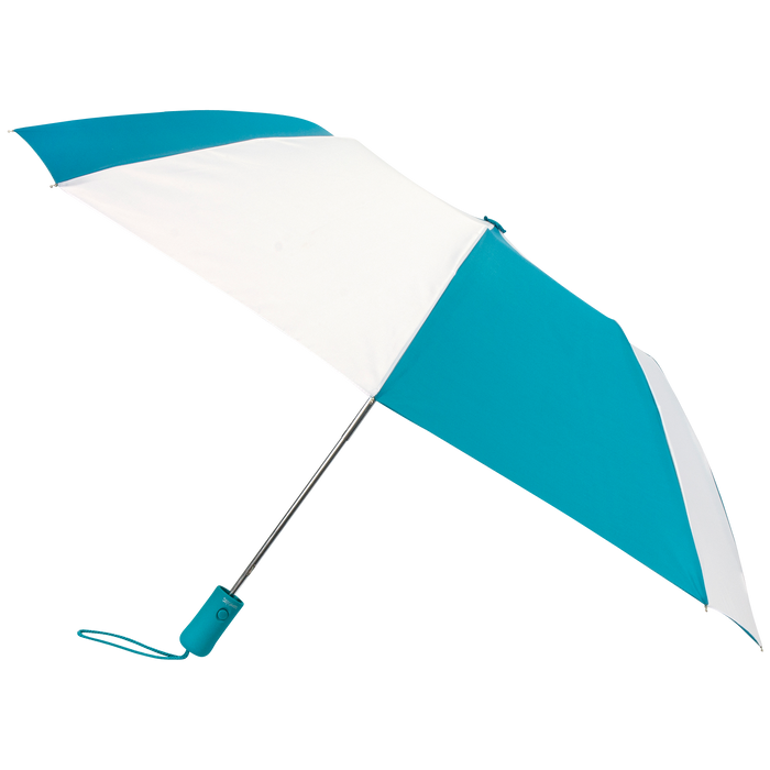 Teal/White Atlas Umbrella
