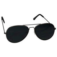Black Classic Aviator Sunglasses Thumb
