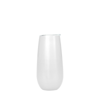 White Stainless Steel Champagne Flute Thumb