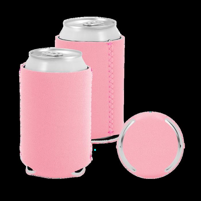 Pastel Pink Premium Collapsible Neoprene Koozie