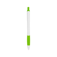 Lime Green with Blue Ink Soft Grip Pen Thumb