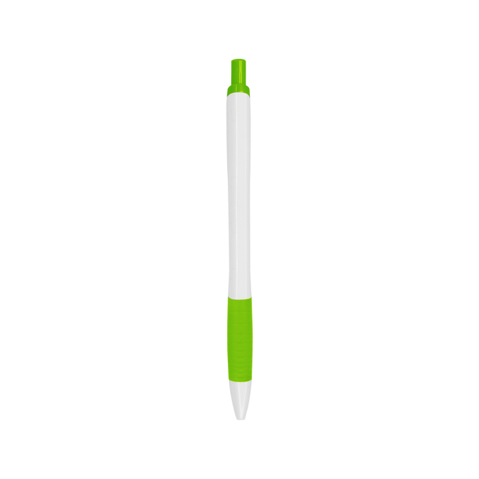 Lime Green with Blue Ink Soft Grip Pen