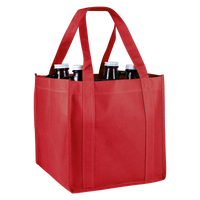 Red 4 Bottle Growler Tote Thumb