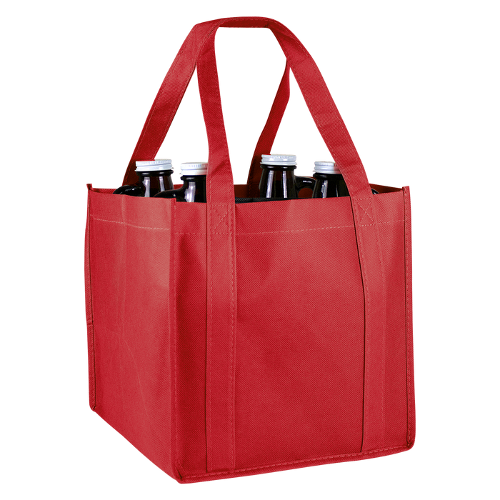 Red 4 Bottle Growler Tote