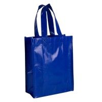 Royal Blue Laminated Fiesta Tote Thumb