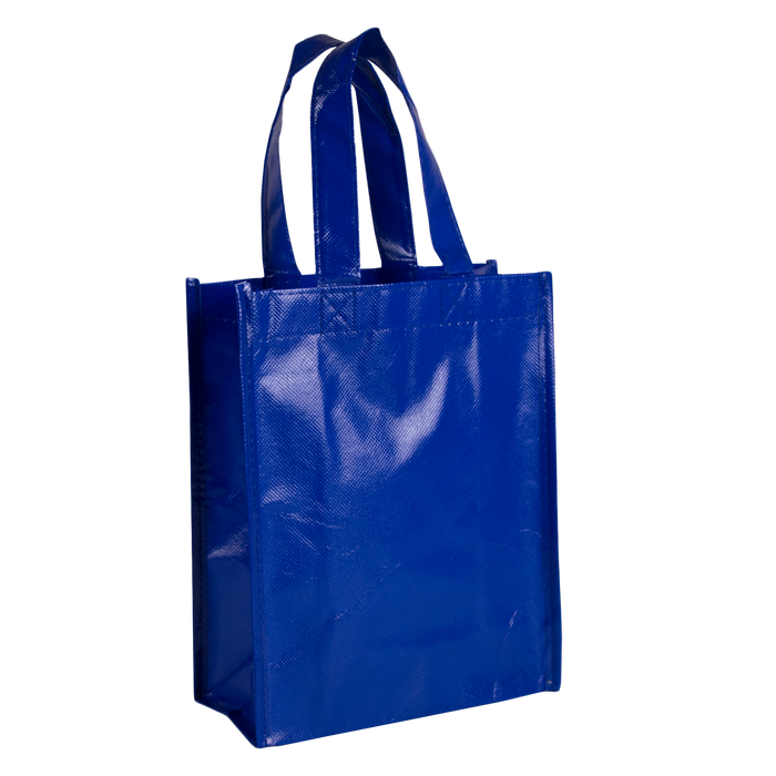 Royal Blue Laminated Fiesta Tote