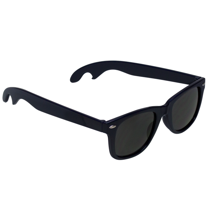 Navy Blue Panama Bottle Opener Sunglasses